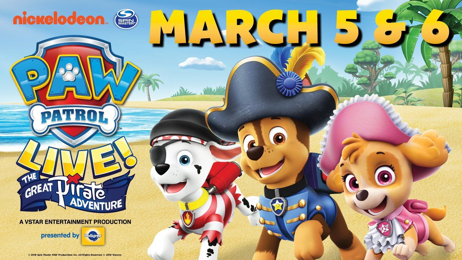 PAW Patrol Live! Sets sail for a new adventure! It's Pirate Day in Adventure Bay and Ryder will need all paws on deck as he and the PAW Patrol discover a ...